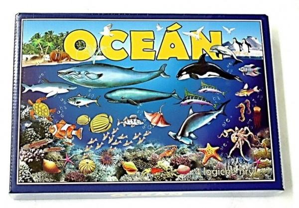 Oceán 4 logické hry společenská hra v krabici 29x20x4cm