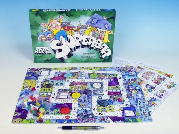 Pepa hledá superbar společenská hra v krabici 33x23x3cm