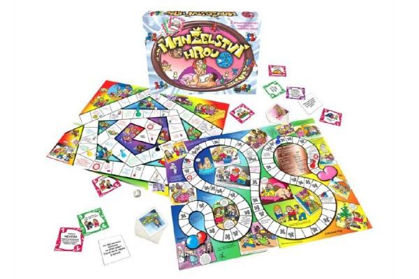 Manželství hrou + tchyně to zařídí 2 společenské hry v krabici 33x23x3cm