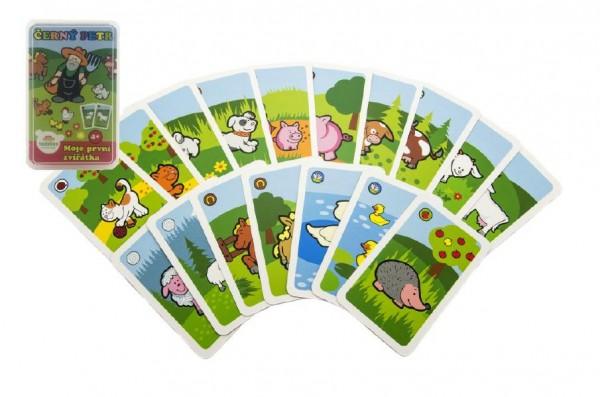 Černý Petr Moje první zvířátka společenská hra - karty v plastové krabičce MPZ 6x9cm