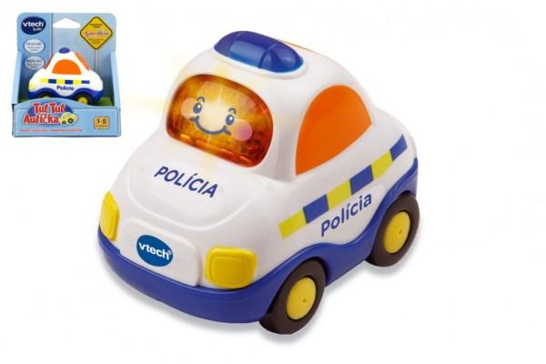 Autíčko Tut Tut Policie česky mluvící plast 8cm na baterie se zvukem se světlem v krabičce Vtech
