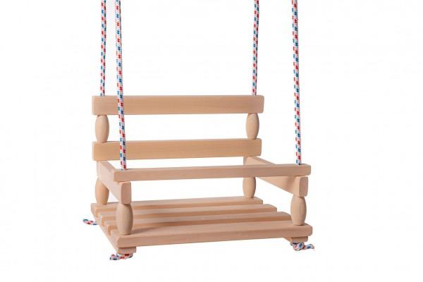 Houpačka dřevo přírodní 38x30cm nosnost 80kg v sáčku