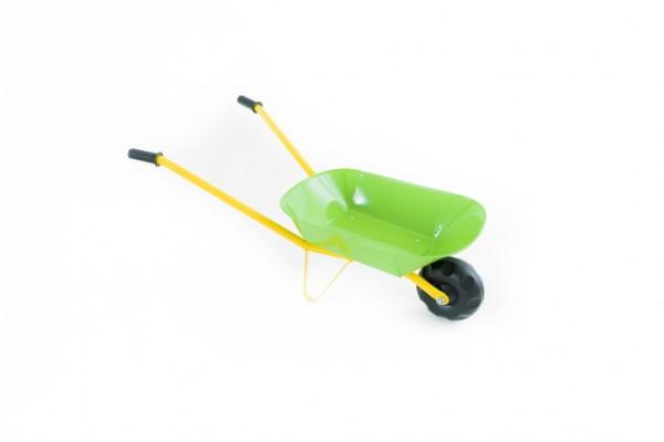 Kolečko plechové zelené 75x30x40cm v sáčku