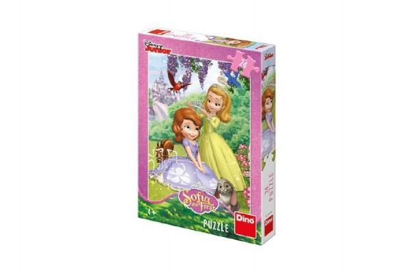 Puzzle Disney Sofia 24 dílků 18x26 cm v krabici 19x27x4cm