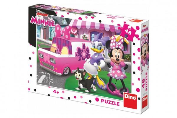 Puzzle Minnie a Daisy 48 dílků 26x18 cm v krabici 27x19x4cm