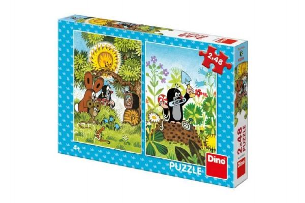 Puzzle Krtek 2x48 dílků 18x26cm v krabici 27x19x4cm