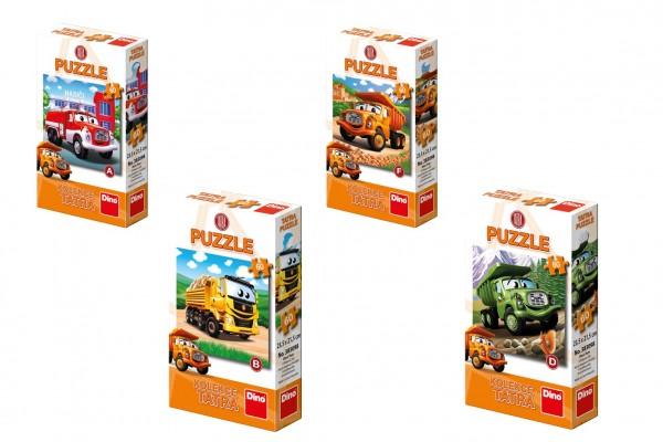 Puzzle Tatra auto 60 dílků 23,5x21,5cm 6 druhů v krabičce 9x15x3cm 24ks v boxu