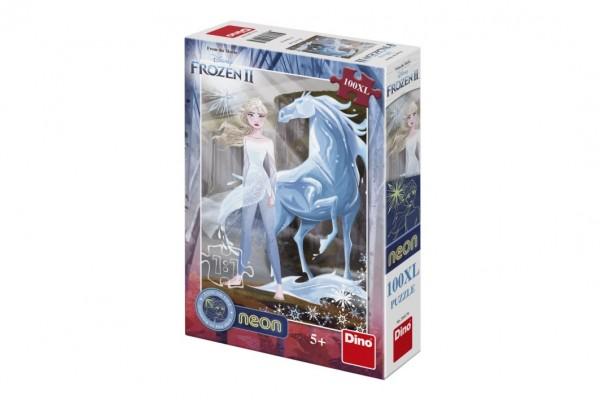 Puzzle XL Ledové království II/Frozen II svítící ve tmě 33x47cm 100 dílků v krabici 20x29,5x6cm