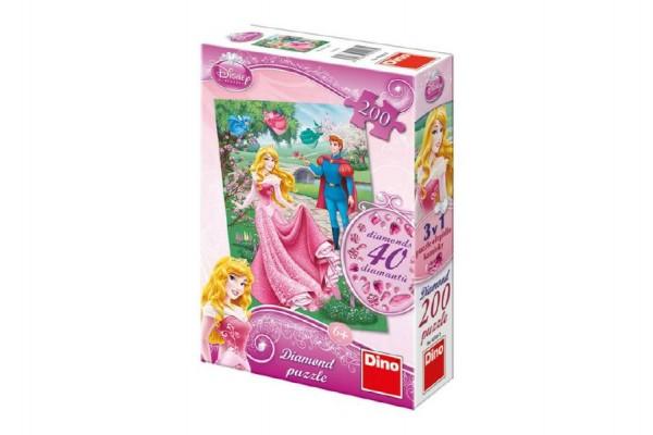 Puzzle Diamond Růženka 33x47cm + lepidlo + kamínky 200 dílků v krabici 18x27x6cm