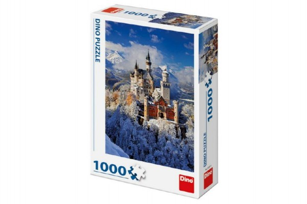Puzzle zimní Neuschwanstein 47x66cm 1000 dílků v krabici 23x32x7,5cm
