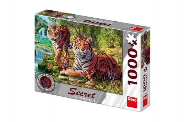 Puzzle Tygři 12 skrytých detailů 1000 dílků 66x47cm v krabici 32x23x7cm