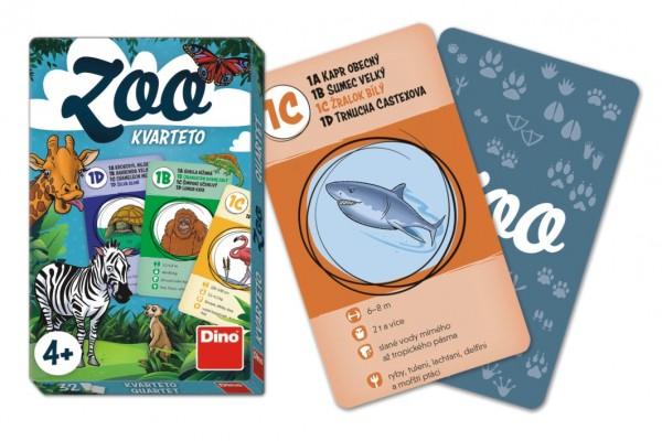 Kvarteto ZOO společenská hra karty 32ks v papírové krabičce 7x11x1cm