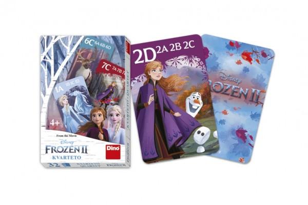 Kvarteto společenská hra Ledové království II/Frozen II v krabičce 6x9x1cm