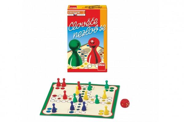 Člověče, nezlob se cestovní společenská hra v krabičce 12x18x4cm