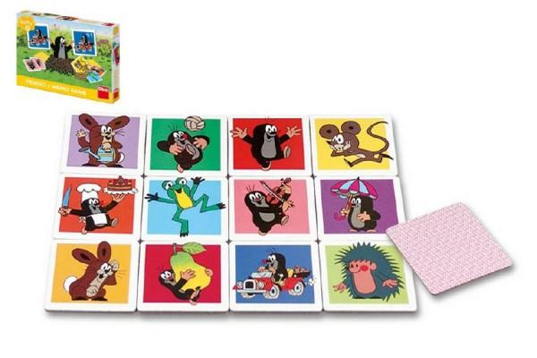 Velké krtečkovo pexeso Krtek společenská hra v krabici 27x19x4cm 2+