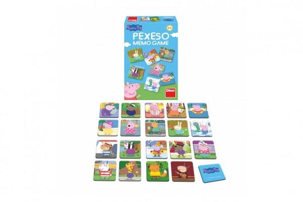 Pexeso 48 pevných kartiček Prasátko Peppa/Peppa Pig společenská hra v krabičce 12x18x3,5cm