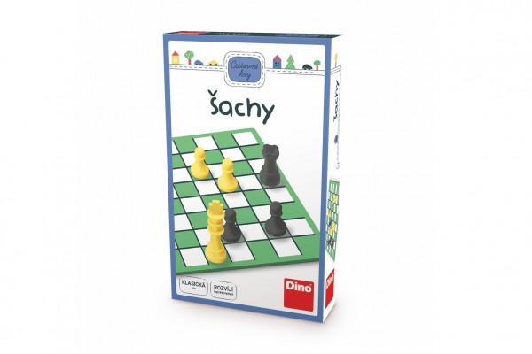 Šachy cestovní hra v krabičce 11,5x18x3,5cm