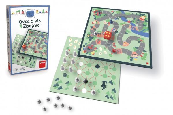 Ovce a vlk & Zbojníci cestovní společenská hra v krabičce 11,5x18x3,5cm