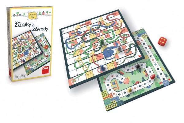 Žížalky a Závody cestovní společenská hra v krabičce 18x11x4cm