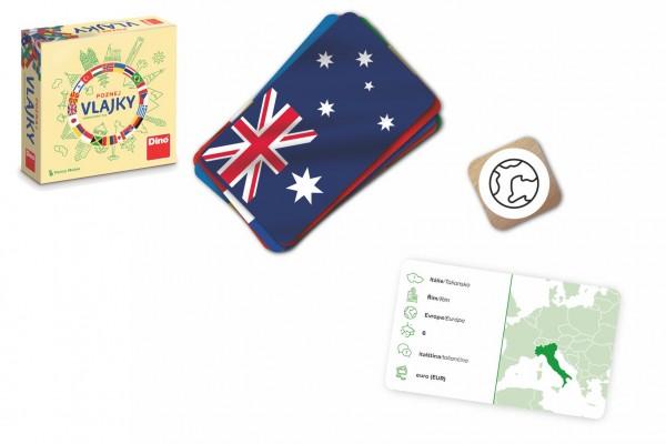 Poznej vlajky cestovní společenská hra v krabičce 13x13x4cm