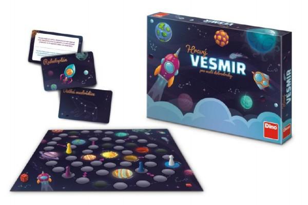 Hravý Vesmír pro malé dobrodruhy stolní společenská hra v krabici 33x23x4cm 6+