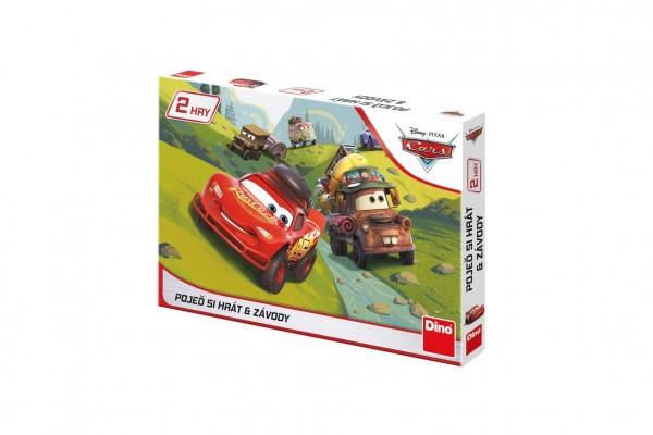 Pojď si hrát/Závody 2 společenské hry Cars/Auta v krabici 33x23x3cm