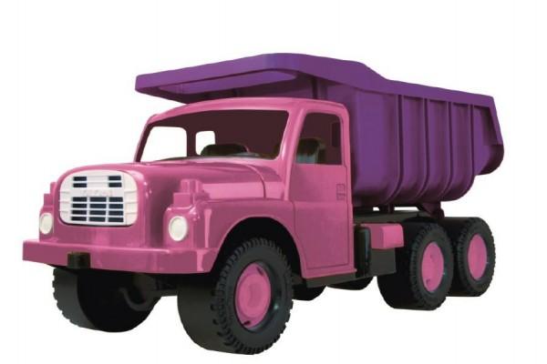 Auto Tatra 148 plast 73cm v krabici růžová