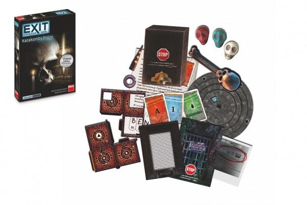 Úniková hra Exit: Katakomby hrůzy společenská hra v krabici 19x28x4cm