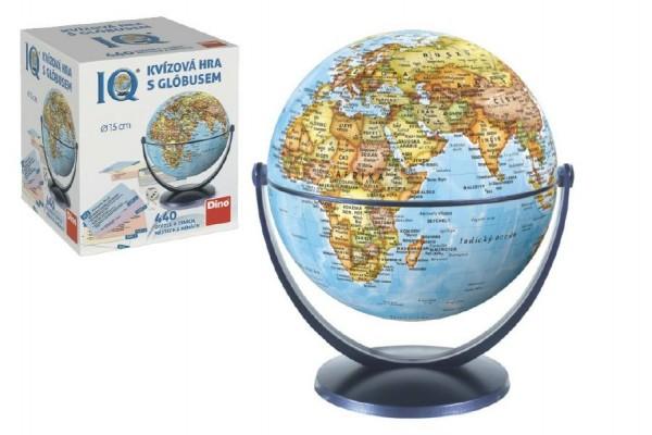 IQ kvízová hra s globusem společenská vědomostní hra v krabici 18x21x18cm