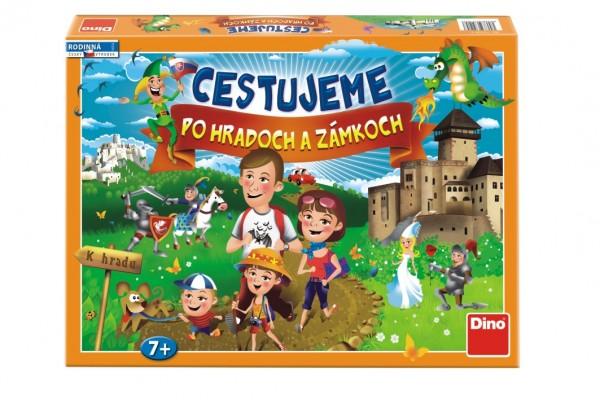 Cestujeme po hradoch a zámkoch verze SK společenská hra v krabici 43x30x5,5cm
