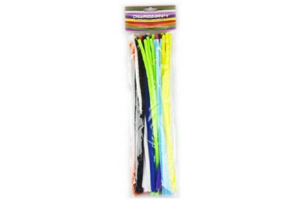 Chlupaté dráty 6mmx30cm 50ks asst mix barev v sáčku