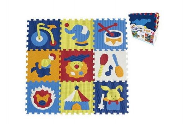 Pěnové puzzle cirkus 9ks 32x32x1cm
