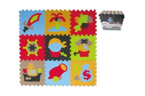 Pěnové puzzle pirát 9ks 32x32x1cm