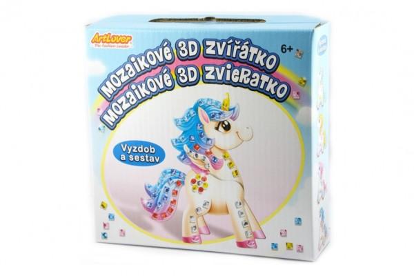 Zvířátko mozaikové 3D kreativní sada jednorožec v krabičce 15x15x4cm