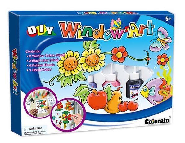 Okenní barvy 10x40ml + předlohy v krabici 31x24x3cm