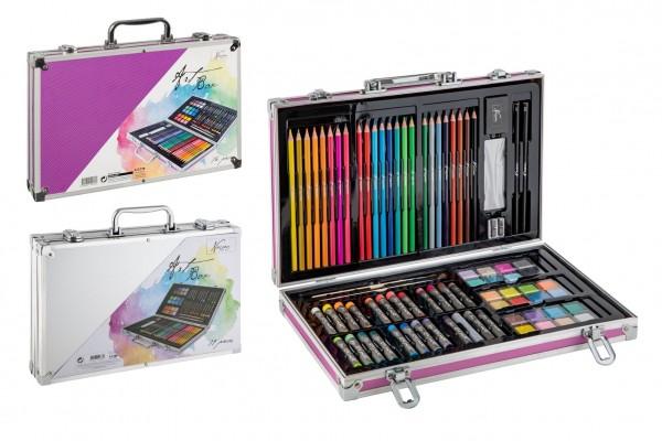 Sada na malování - Art box kreativní sada 79ks v hliníkovém kufříku ve fólii 37x24x5cm