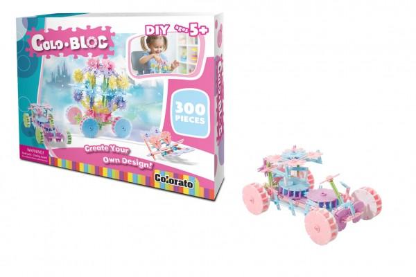 Stavebnice Colo Bloc 300 ks - dívčí plast v krabici 35x27x6cm