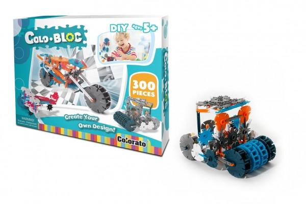 Stavebnice Colo Bloc 300 ks - chlapecká plast v krabici 35x27x6cm