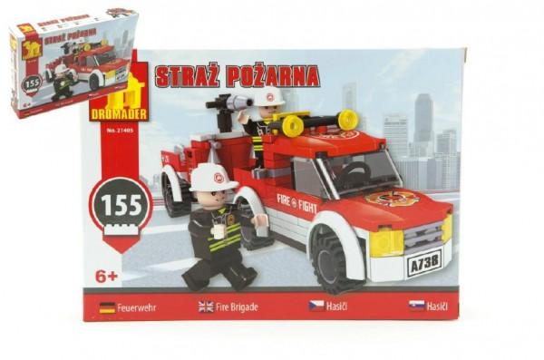 Stavebnice Dromader Hasiči Auto 21405 155ks v krabici 25,5x18,5x4,5cm