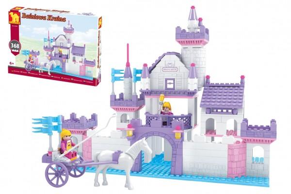 Kostky stavebnice Dromader hrad pro holky 368 dílků v krabici 38x28x6cm