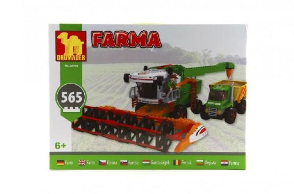 Stavebnice Dromader Farma kombajn 28703 565ks v krabici 41x30,5x6cm