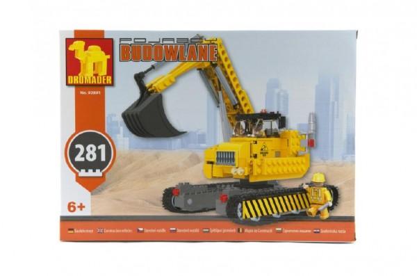 Stavebnice Dromader bagr 92891 281ks v krabici 35x25x6cm