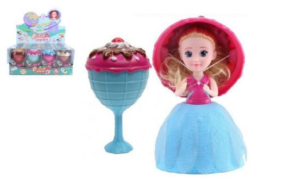 Panenka/Gelato/Cupcake - zmrzlinový pohár plast 16cm vonící asst 12 druhů v krabičce 12ks v boxu