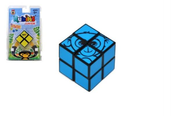 Rubikova kostka hlavolam Junior 2x2 plast na kartě 12x19cm