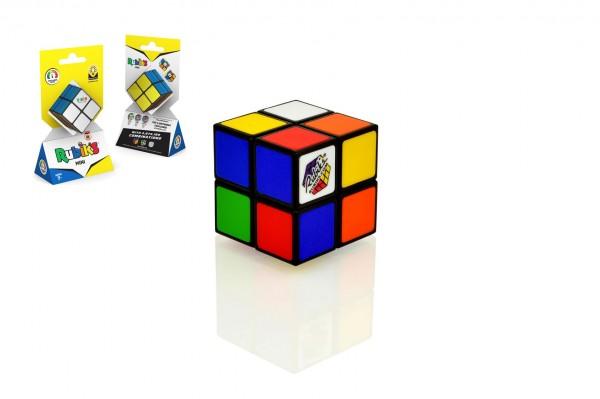Rubikova kostka 2x2x2 Mini hlavolam plast 5x5x5cm na kartě