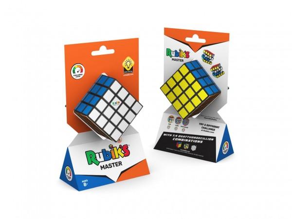 Rubikova kostka hlavolam 4x4x4 plast 6,5x6,5x6,5cm v krabičce 12x21x7cm