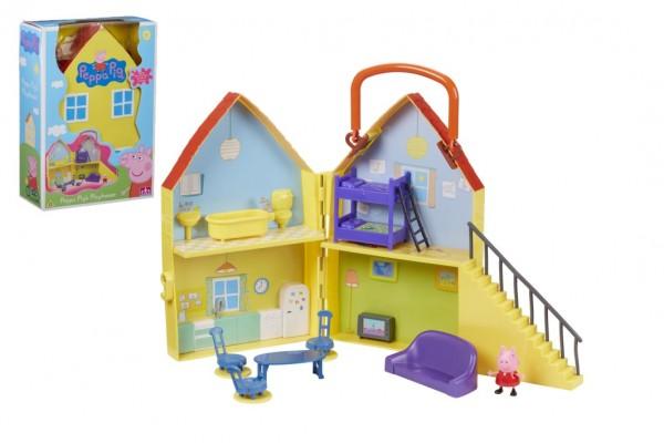 Prasátko Peppa/Peppa Pig plast domeček s figurkou s doplňky v krabici 22x32x10cm