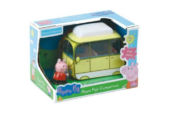 Prasátko Peppa karavan kempingový vůz v krabici 20x14x13cm
