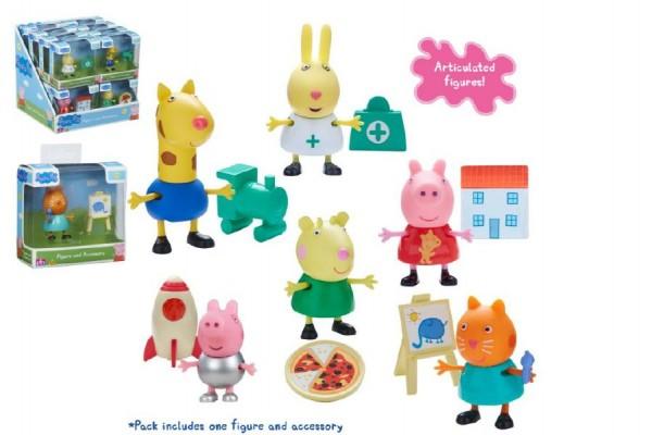 Prasátko Peppa figurka s doplňky plast 6cm asst mix druhů v krabičce