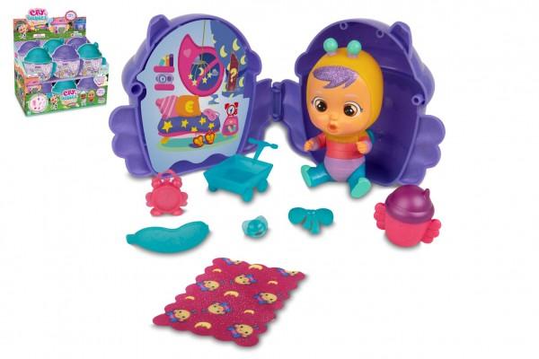 CRY BABIES Magické slzy plast 2. série okřídlený domeček 15x13cm fialová/tyrkysová 12ks v boxu